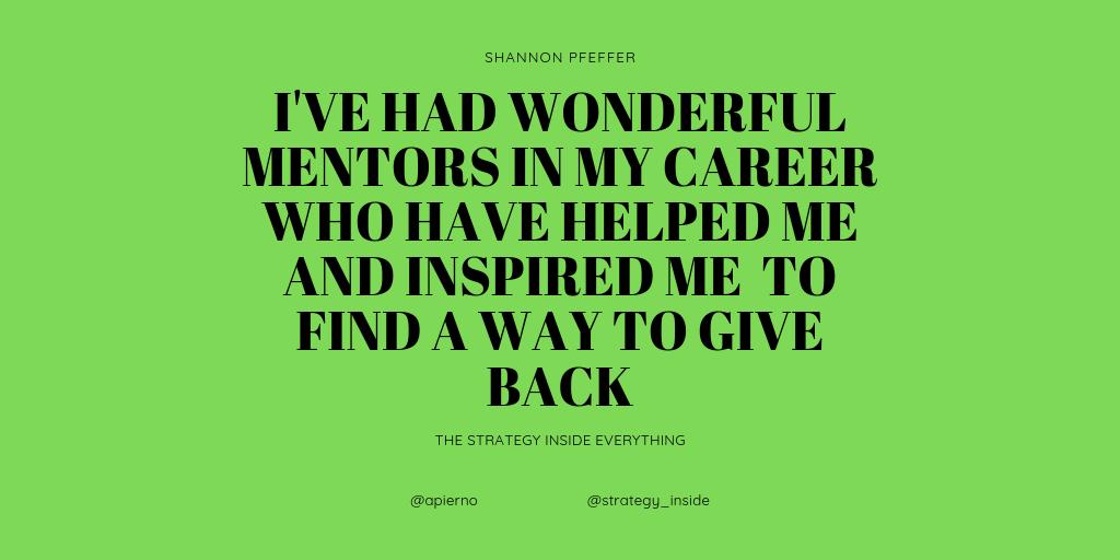 give back, mentor