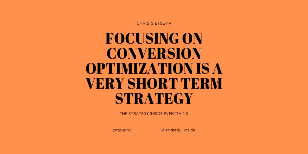 strategy, Chris Sietsema, conversion